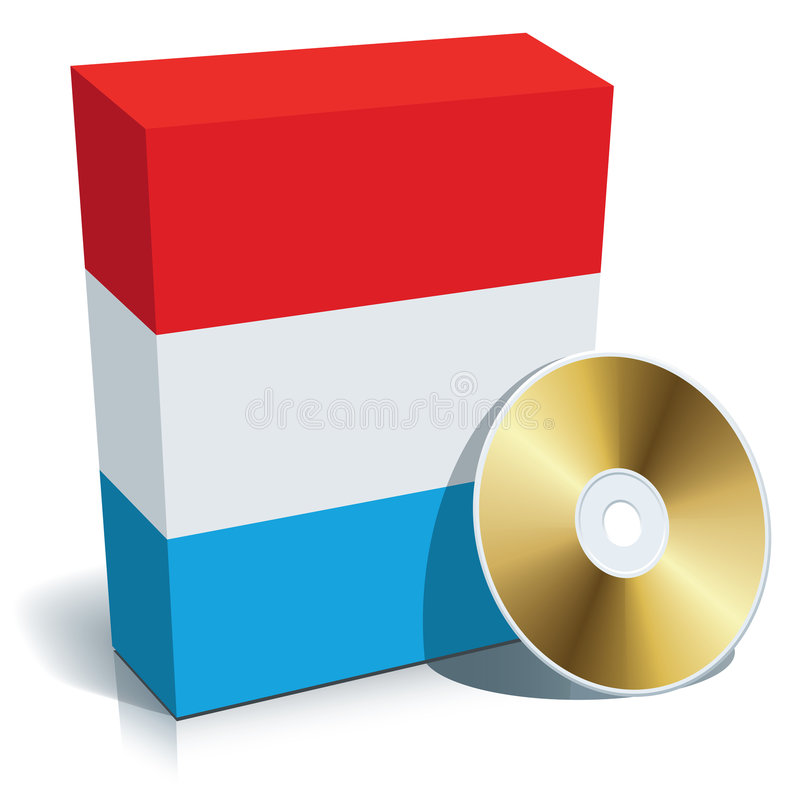 Luxembourgian software box and CD stock illustration