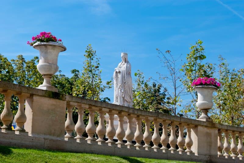 Luxemburg arbeitet dekorative Statue, Paris im Garten stockbilder