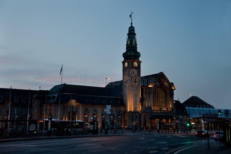 Luxemburg-Bahnstation (Gare) lizenzfreie stockfotografie