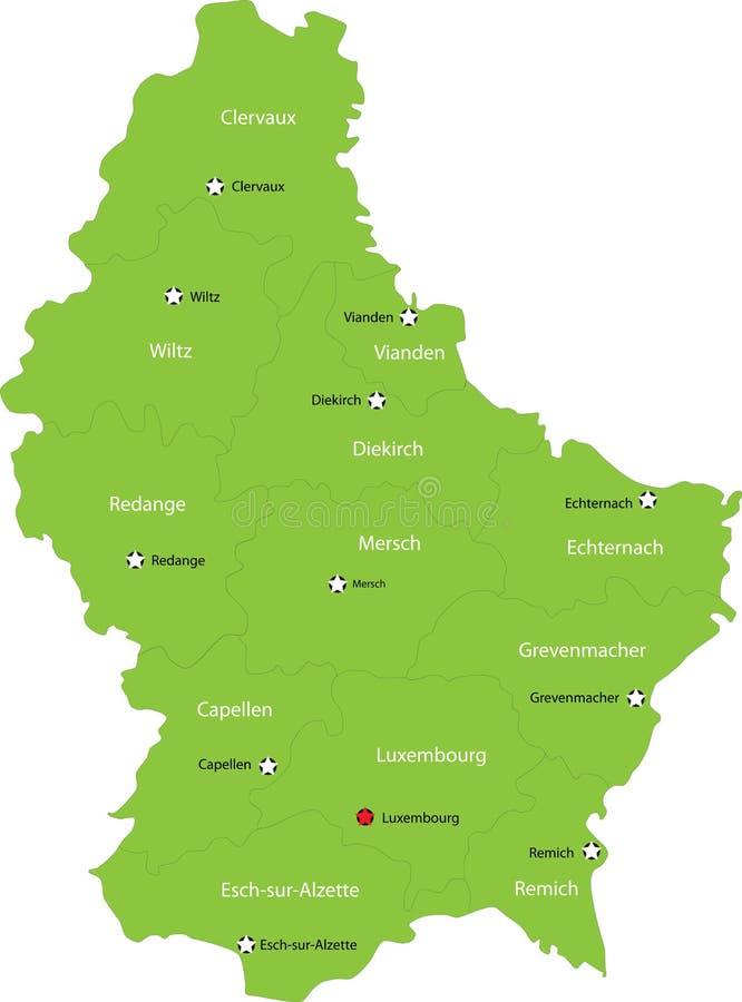 Luxemburg bilden ab stock abbildung
