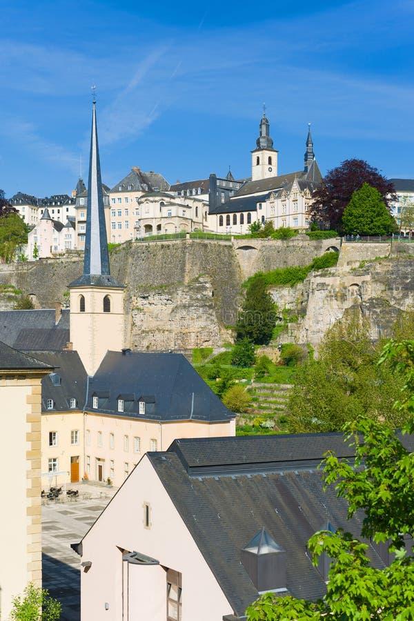 Luxemburg an einem sonnigen Tag stockbild