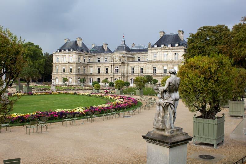Luxemburg-Gärten in Paris lizenzfreies stockbild