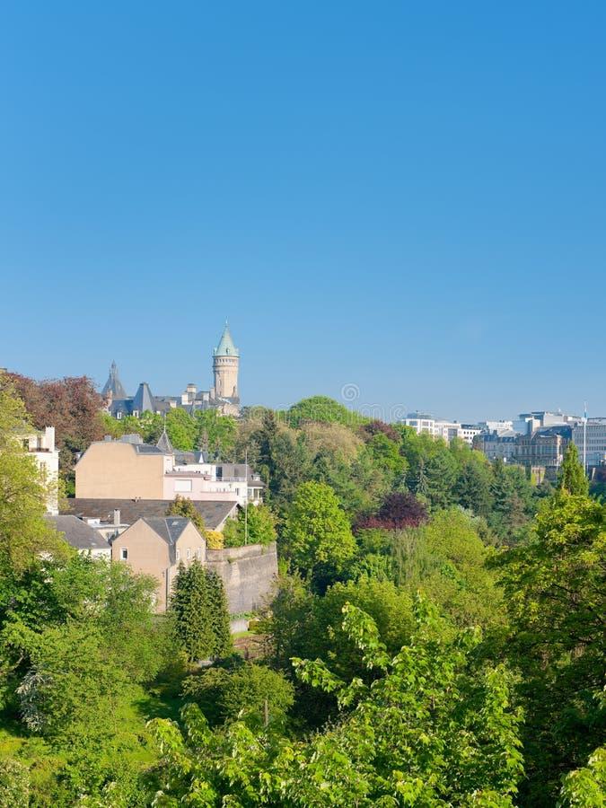 Luxemburg im frühen Morgen stockfoto