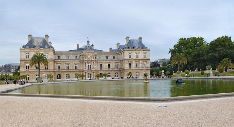 Luxemburg-Palast in Paris lizenzfreies stockfoto