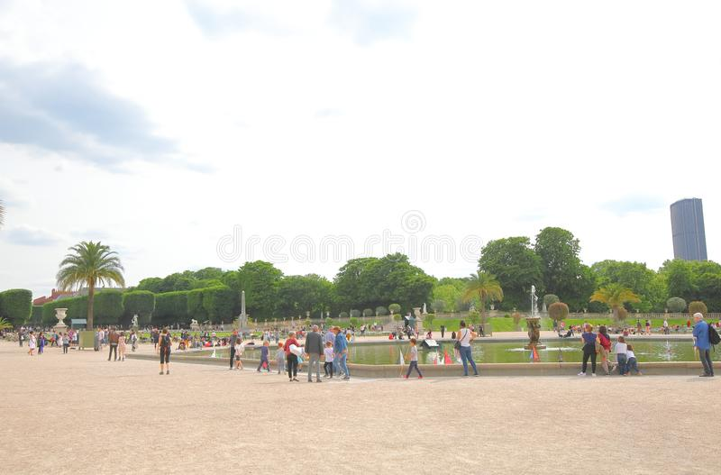 Luxemburg park garden Paris Frankrijk stock afbeelding