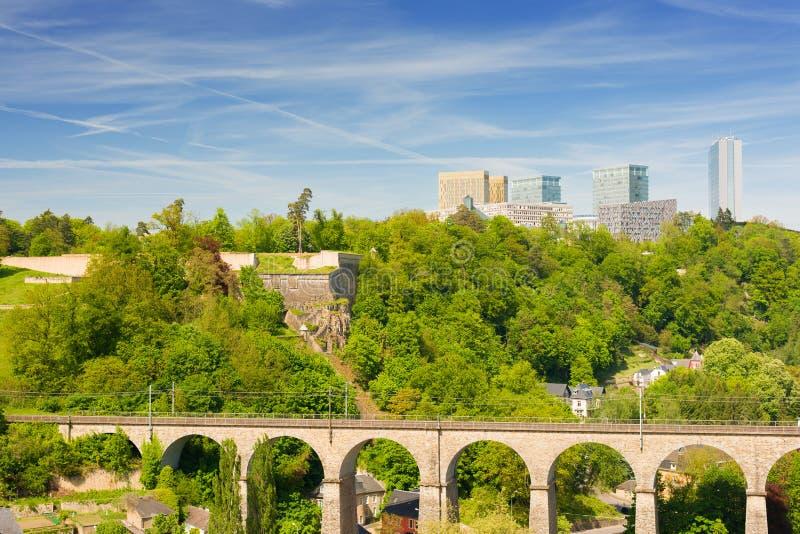 Luxemburg am Sommertag stockbild