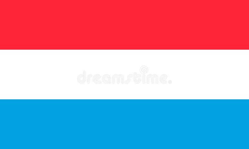 Luxemburg-Staatsflagge Auch im corel abgehobenen Betrag europa vektor abbildung