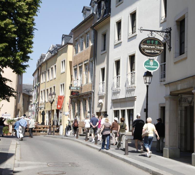 Luxemburg-Stadt. stockfotografie