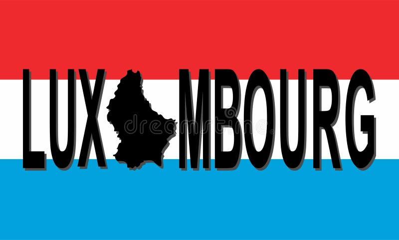Luxemburg-Text mit Karte lizenzfreie abbildung