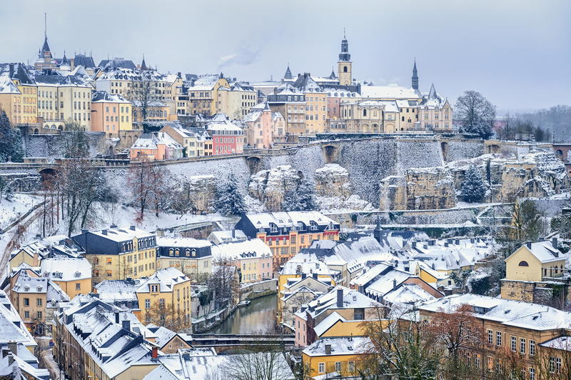 Luxemburgo céntrico fotografía de archivo
