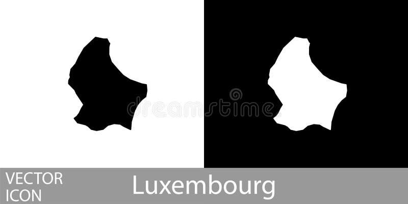 Luxemburgo detalló el mapa libre illustration