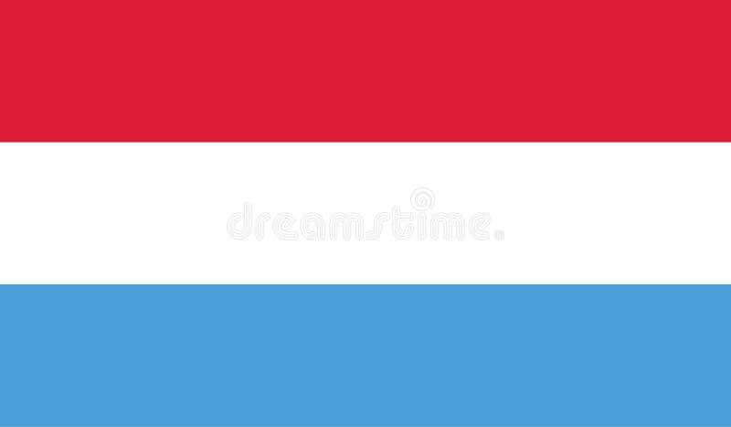 Luxemburgo señala imagen por medio de una bandera libre illustration