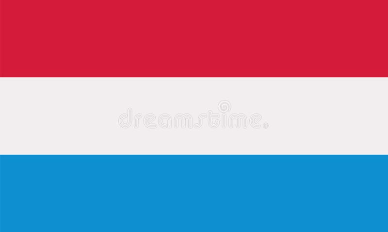 Luxemburgo señala vector por medio de una bandera libre illustration