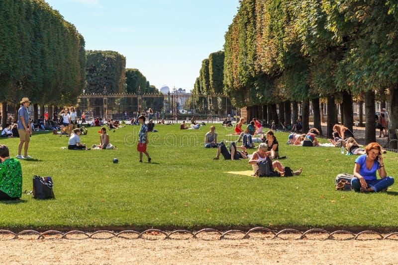 Luxemburgse tuinen in Parijs royalty-vrije stock afbeeldingen