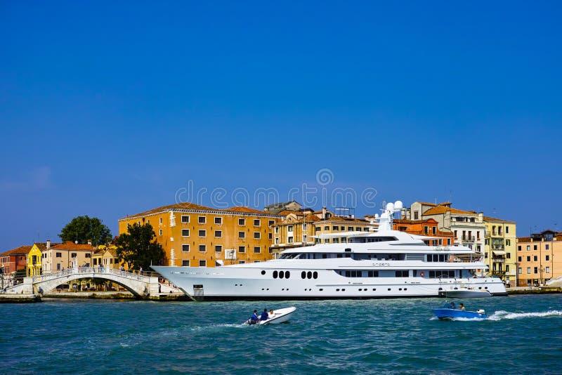Luxery yacht. In venice, italy royalty free stock photos