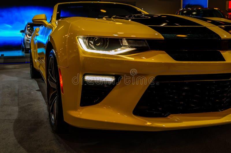 Luxesportwagen stock foto's