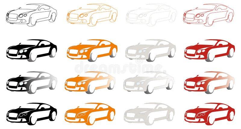 Luxesportwagen stock foto
