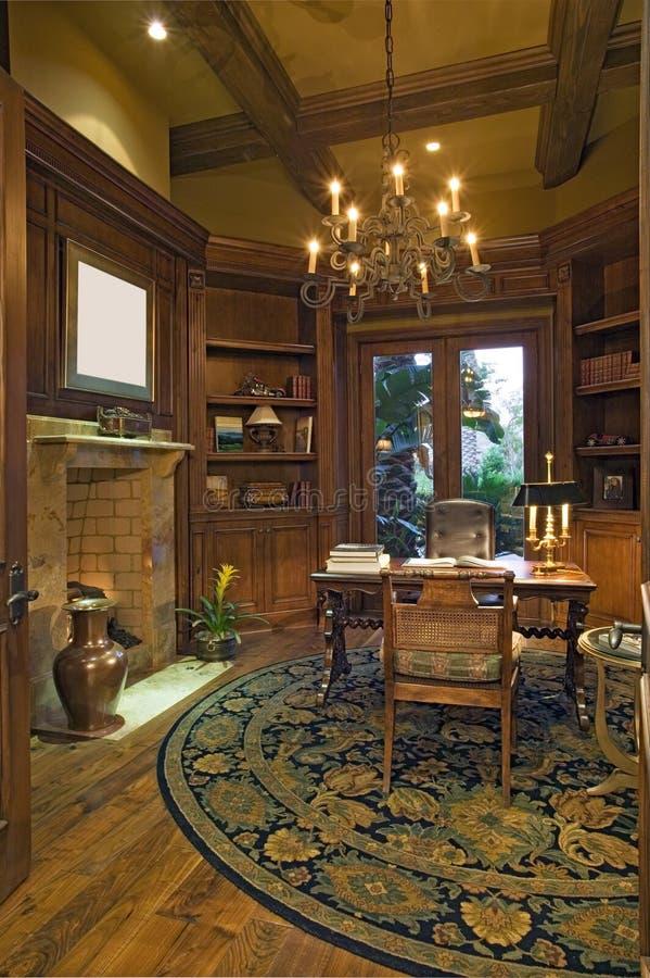 Luxestudie van Californisch huis royalty-vrije stock afbeeldingen