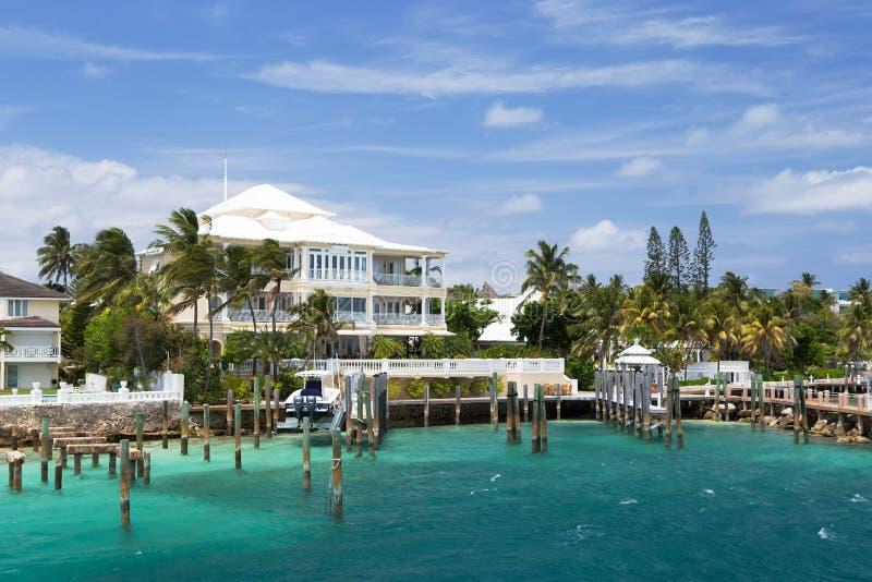Luxevilla, Paradijseiland, Nassau, de Bahamas royalty-vrije stock foto's