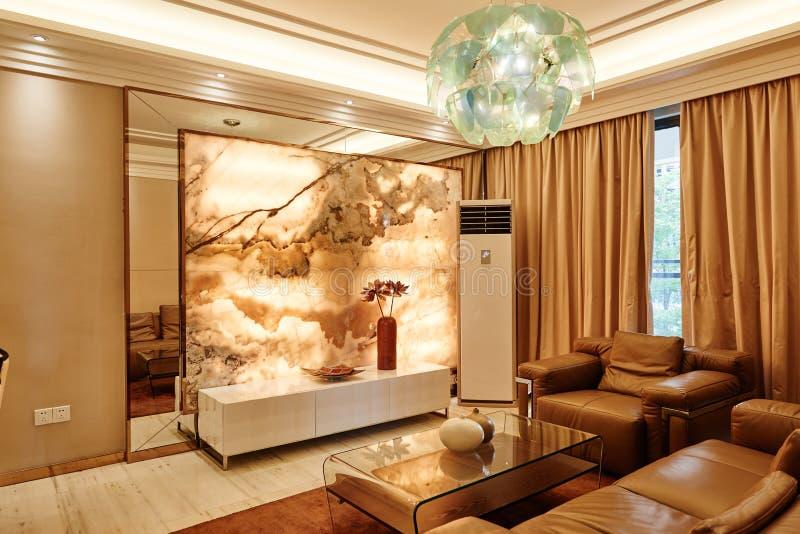 Luxewoonkamer stock afbeeldingen
