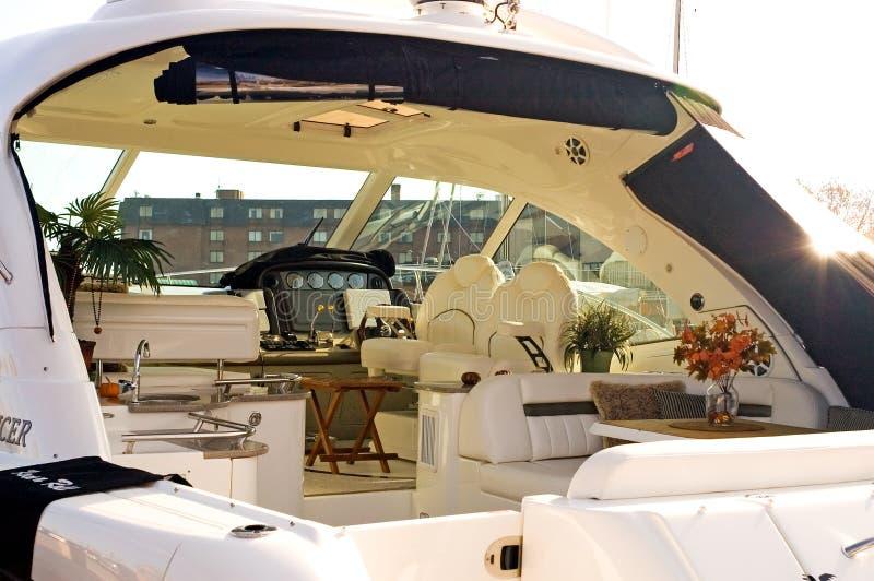 Luxo confidencial Yacht-1 imagens de stock