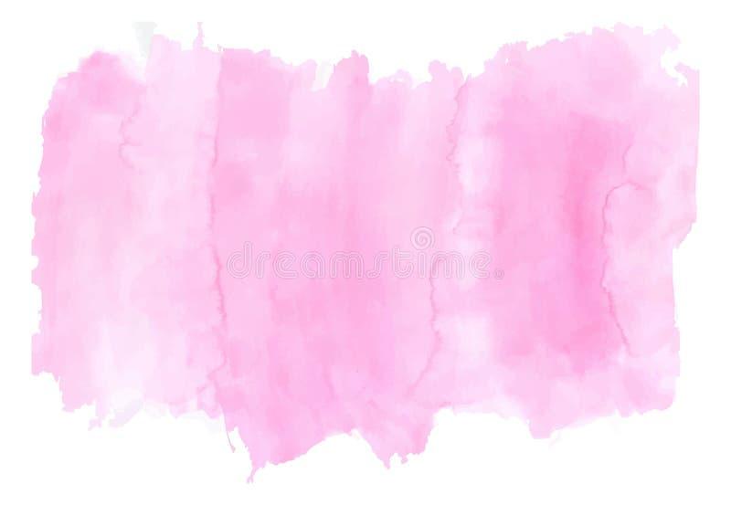 Luxo cor-de-rosa da aquarela ilustração royalty free