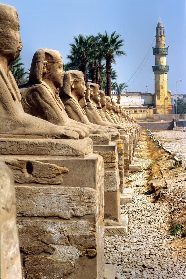 Luxor, Ägypten. stockfotografie