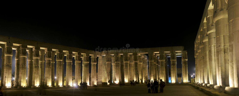 luxor świątynia zdjęcia royalty free