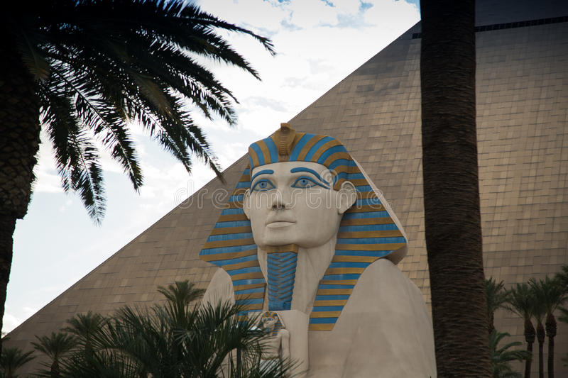Luxor Casino in Las Vegas. Las Vegas, Luxor Casino in the afternoon one day in March stock image