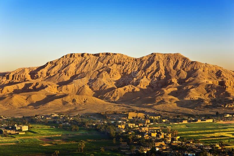 Luxor Cisjordanië hierboven stock foto