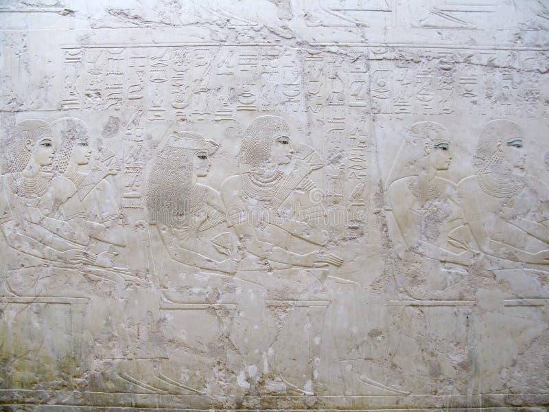 Luxor, Egipt: Grobowiec Ramose przy antycznym necropolis wielmoże w Thebes zdjęcia stock