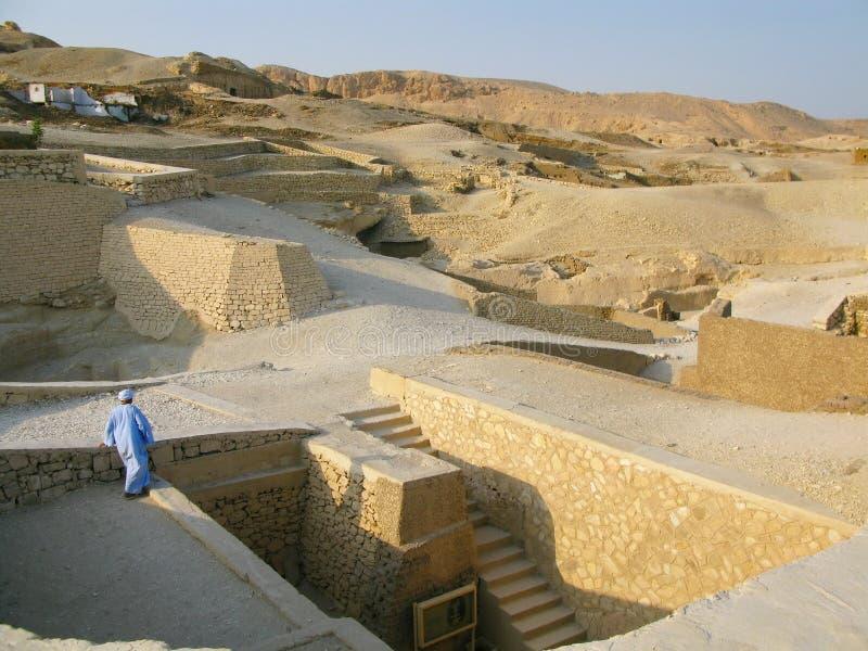 Luxor, Egipt: Grobowiec Ramose przy antycznym necropolis wielmoże w Thebes zdjęcie stock