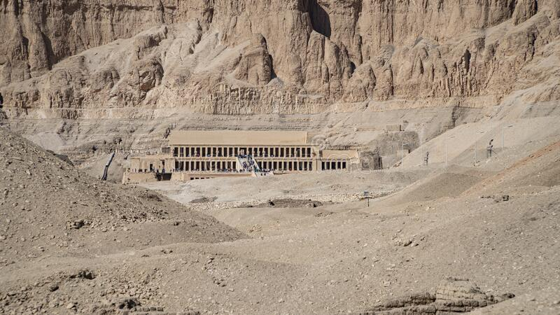 Luxor, Egypt : The Mortuary Temple of Hatshepsut, also known as the Djeser-Djeseru, is a mortuary temple of Ancient Egypt located. Luxor, Egypt: The Mortuary stock images
