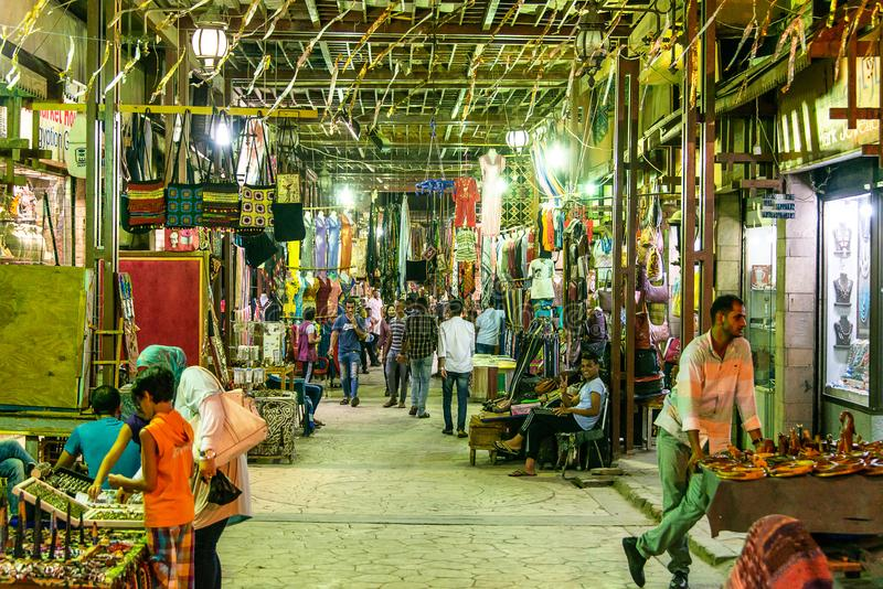 Luxor Egypten 23 05 Basar för 2018 traditionell kryddor med örter och kryddor i Luxor eller Aswan, Egypten arkivbild