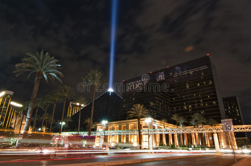 The Luxor Hotel Casino, a landmark of Vegas royalty free stock photo
