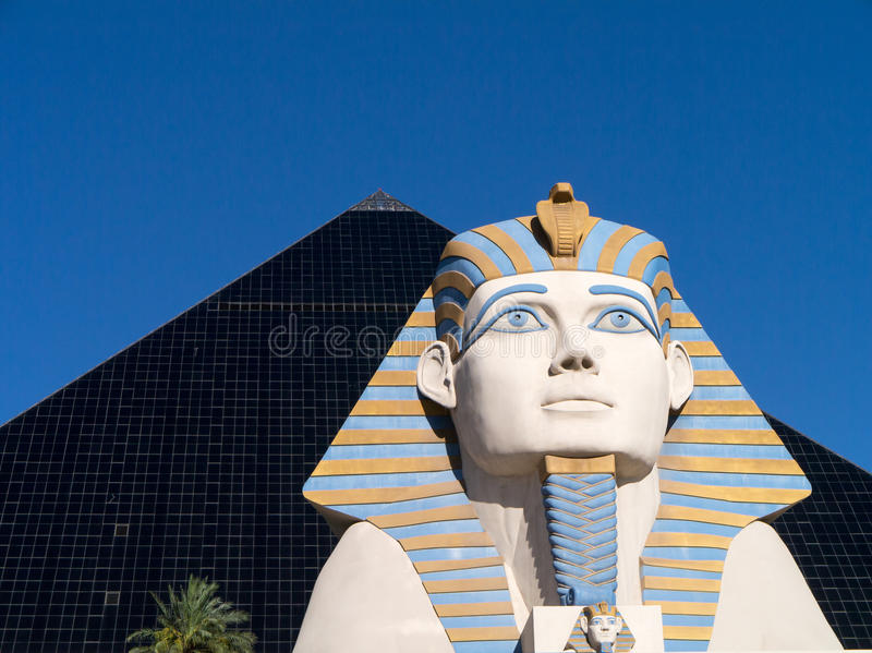Luxor Hotel and Casino Las Vegas stock images