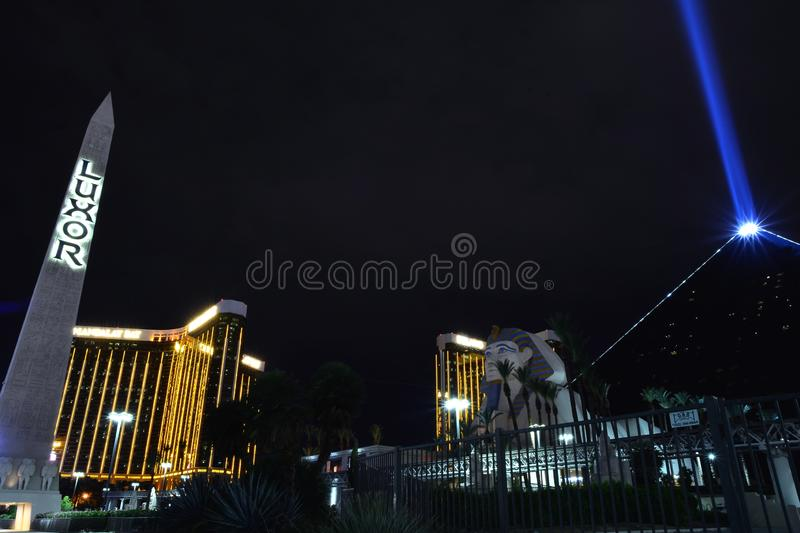 Luxor hotel and casino in Las Vegas stock images