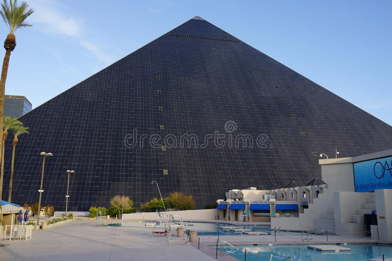 The Luxor Hotel & Casino 101. He pyramid at Luxor Resort in Las Vegas, with its beam of light, provides a striking visual even on the overtly glamorous Las Vegas royalty free stock photography