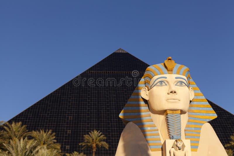 Luxor hotel at sunrise in Las Vegas, NV on April 19, 2013 royalty free stock photo
