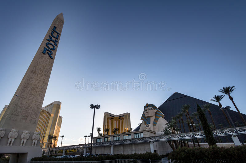 Luxor hotellkasino - Las Vegas, Nevada, USA royaltyfri bild