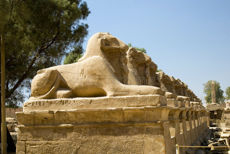 Luxor. Karnak stock afbeelding