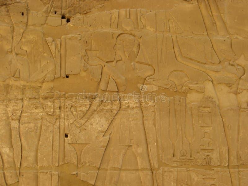 Luxor lättnad Egypten royaltyfria foton