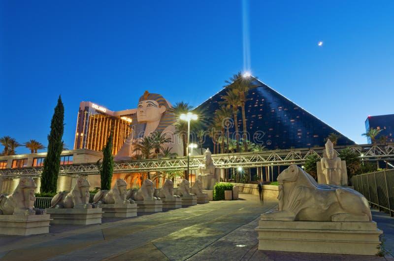Luxor Las Vegas ett hotell och en kasino USA royaltyfri foto