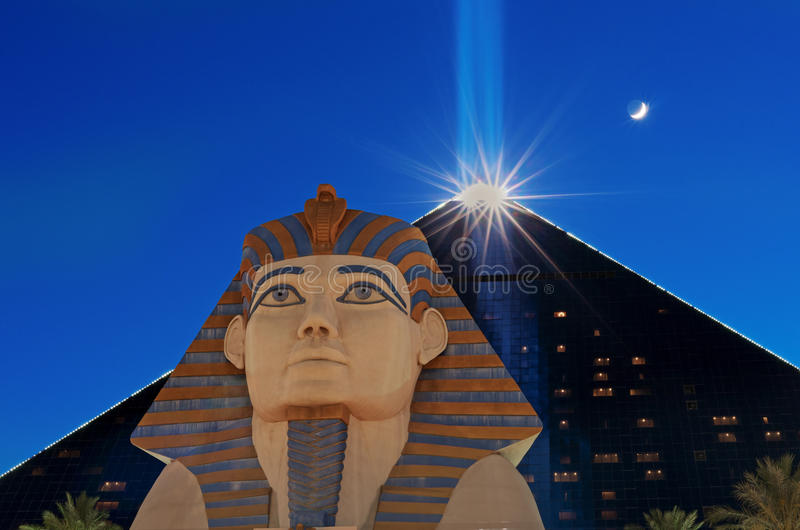 Luxor Las Vegas un hotel e un casinò U.S.A. fotografie stock