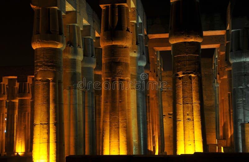 luxor noc świątynia zdjęcia royalty free