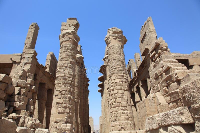Luxor: oude tempel Karnak royalty-vrije stock foto