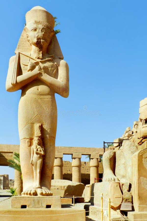 Luxor, tempio di Karnak nell'Egitto fotografia stock libera da diritti