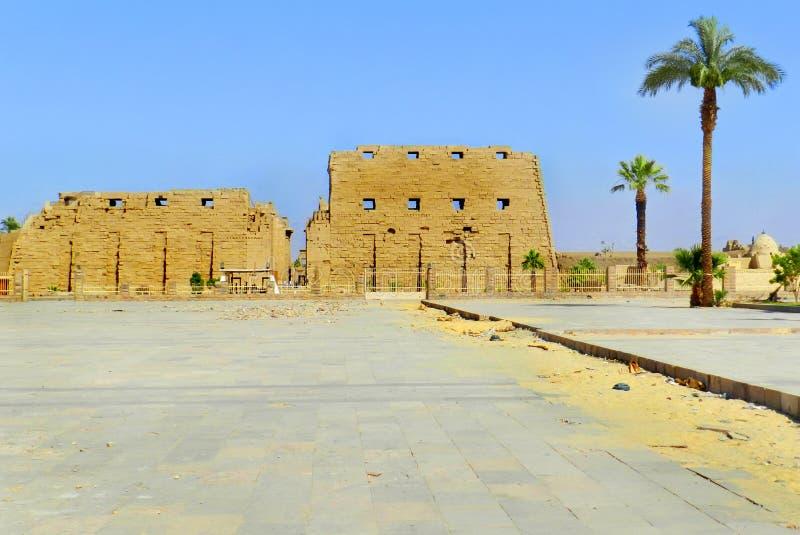 Luxor, tempio di Karnak nell'Egitto fotografie stock libere da diritti