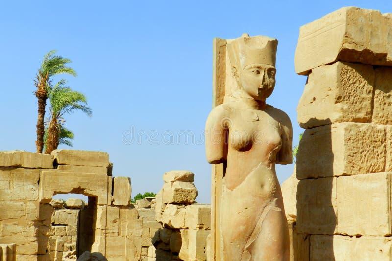 Luxor, tempio di Karnak nell'Egitto fotografia stock