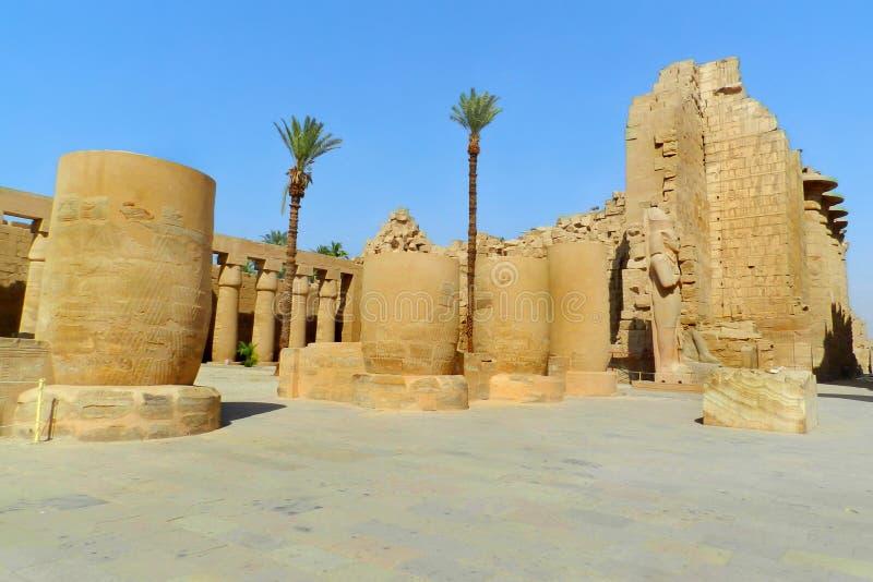 Luxor, tempio di Karnak nell'Egitto immagini stock